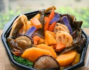 Japanese braised root vegetables